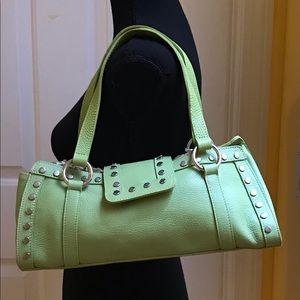 💋 Super Cutie Lime Green Leather Bag